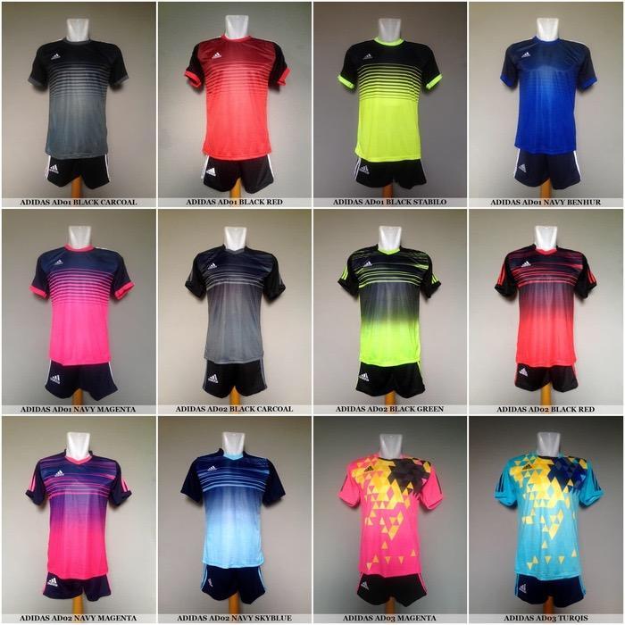 baju olahraga kaos jersey bola setelan  futsal adidas nike puma murah