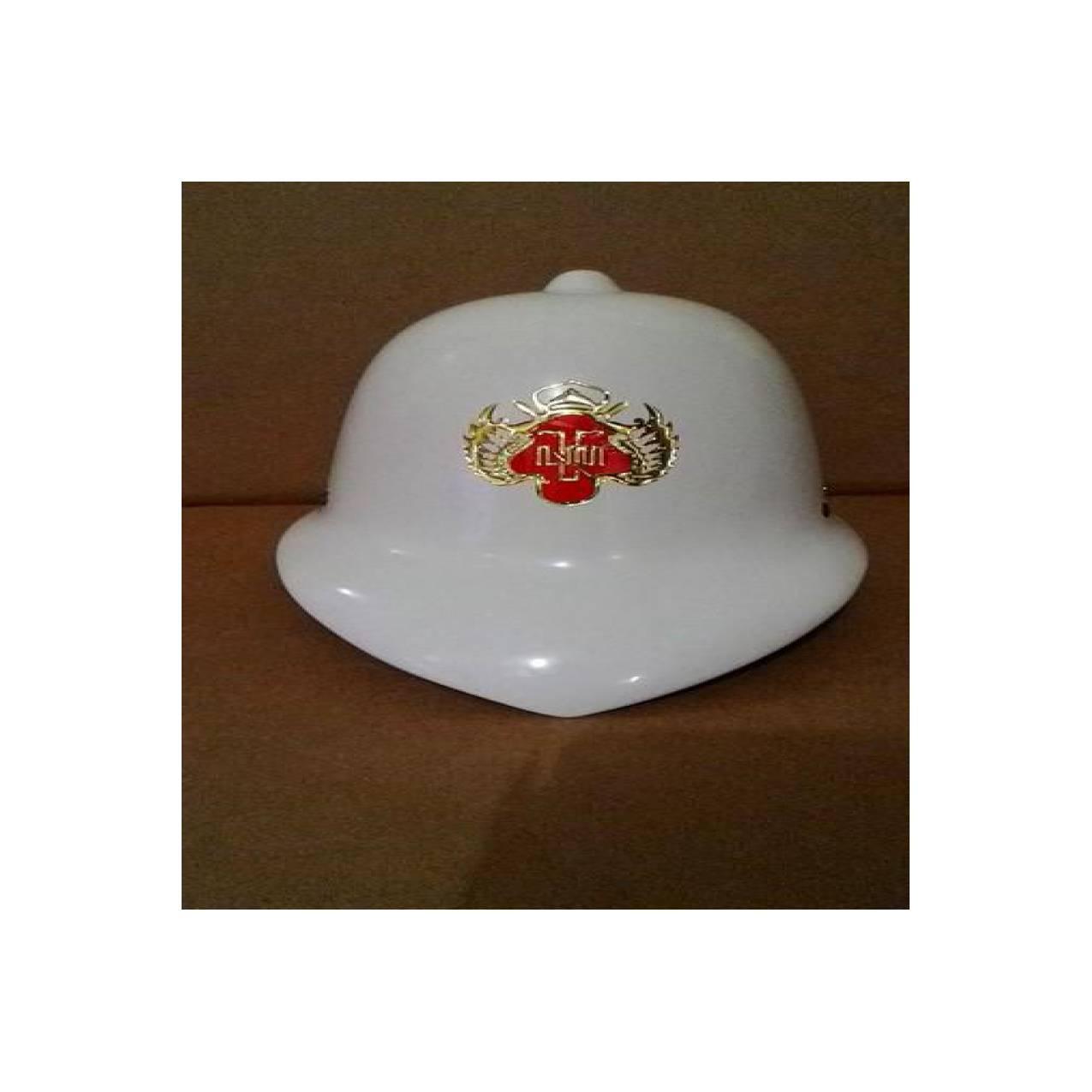 Topi inggris putih logo kraton yogyakarta