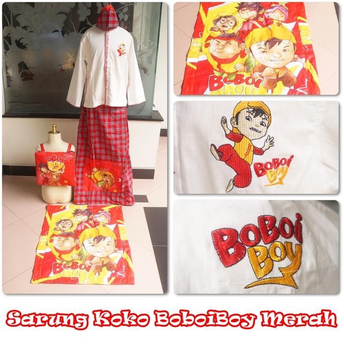 Baju Koko Boboiboy Merah XS / baju koko / baju koko anak / baju muslim / baju koko karakter / baju koko murah / baju koko keren / baju koko lucu / baju koko berkualitas