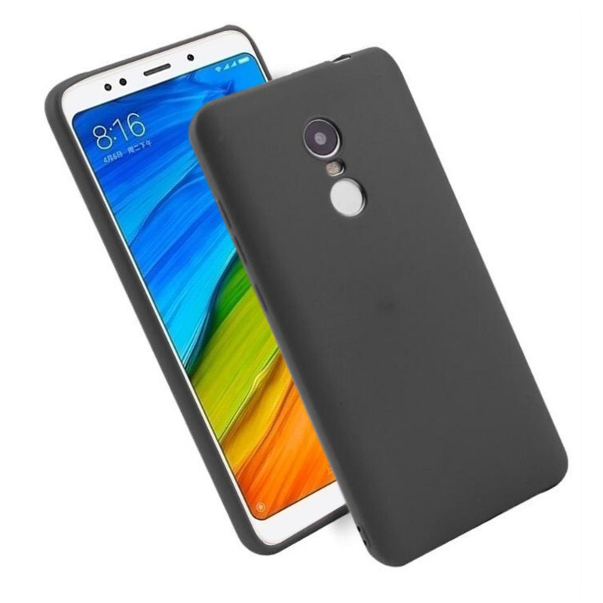 Original Softcase Anti Minyak Casing Black Matte Case Xiaomi Redmi 5 Ultraslim Anti Sidik Jari