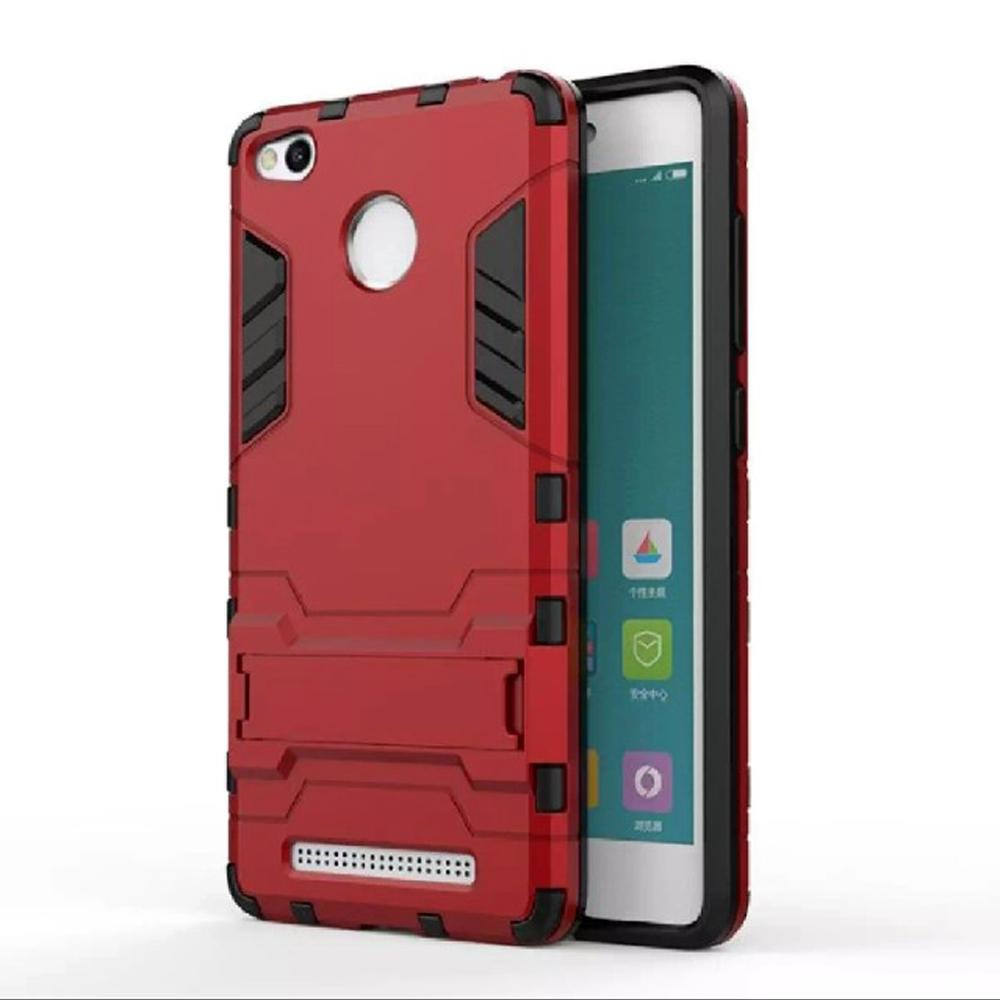 Slalustok Store Case Armor Iron man Kick Stand For xiaomi redmi 3 s / 3 Pro