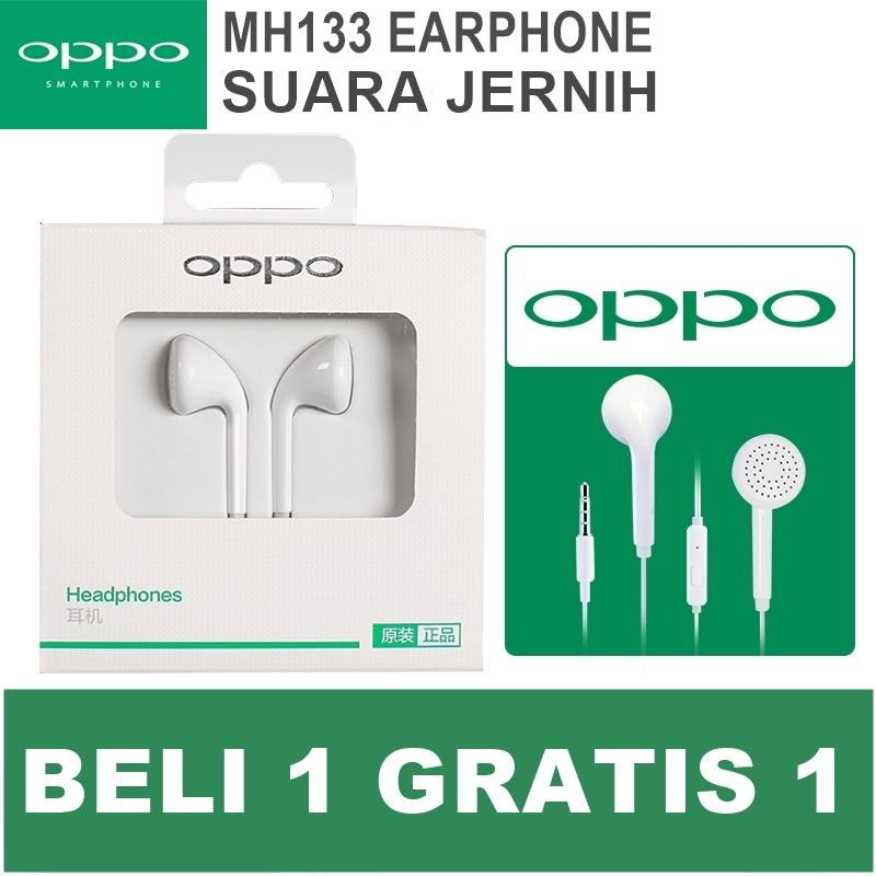 BUY 1 GET 1 OPPO Handsfree Earphone MH133 for Any Smartphone Suara Jernih BELI 1 GRATIS 1
