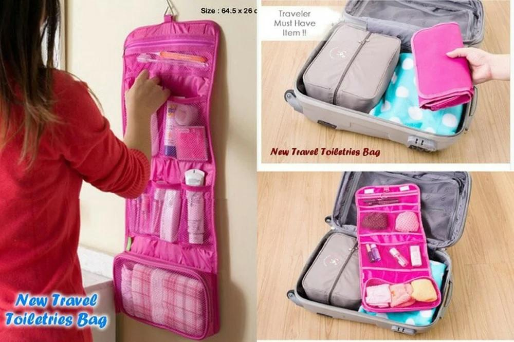 New Toilet bag Organizer Travel Toiletries Bag Tas Travel Mate Traveling Hanging Toiletries