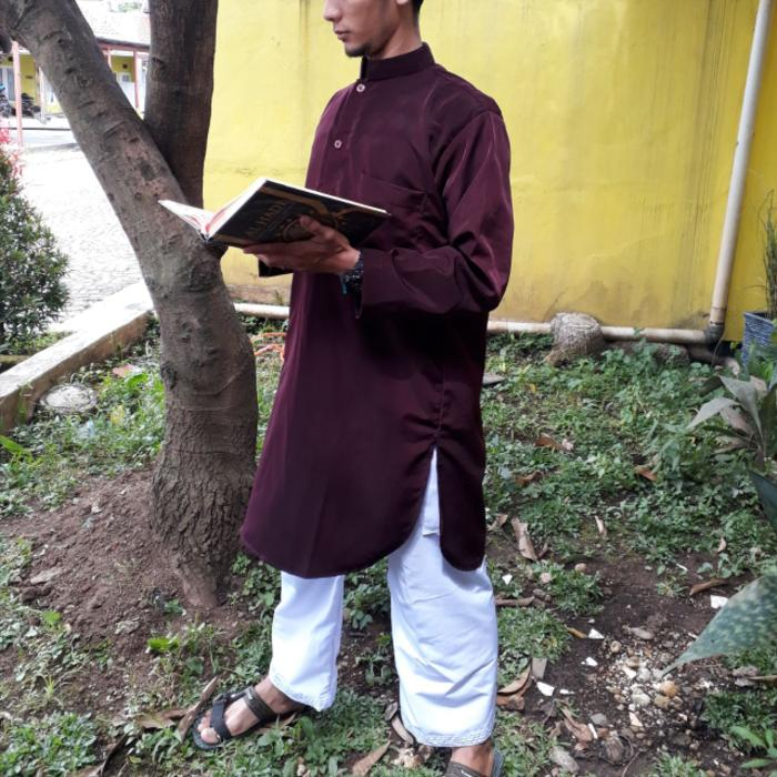 baju koko maroon baju gamis pria pakistan