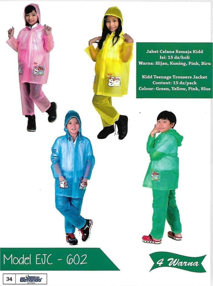 Jas hujan jaket celana remaja Elmondo 602 KIDD - Setelan jas hujan 2205515044