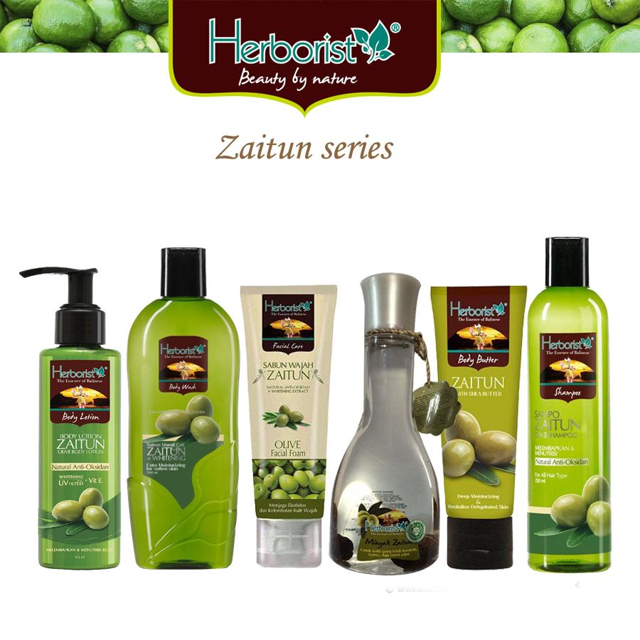 Herborist Paket Zaitun Series 6 Pcs / Shampo Zaitun / Body Wash Zaitun / Minyak Zaitun / Body Butter / Lulur Zaitun / Body Lotion - 6 Pcs By Hafshop.