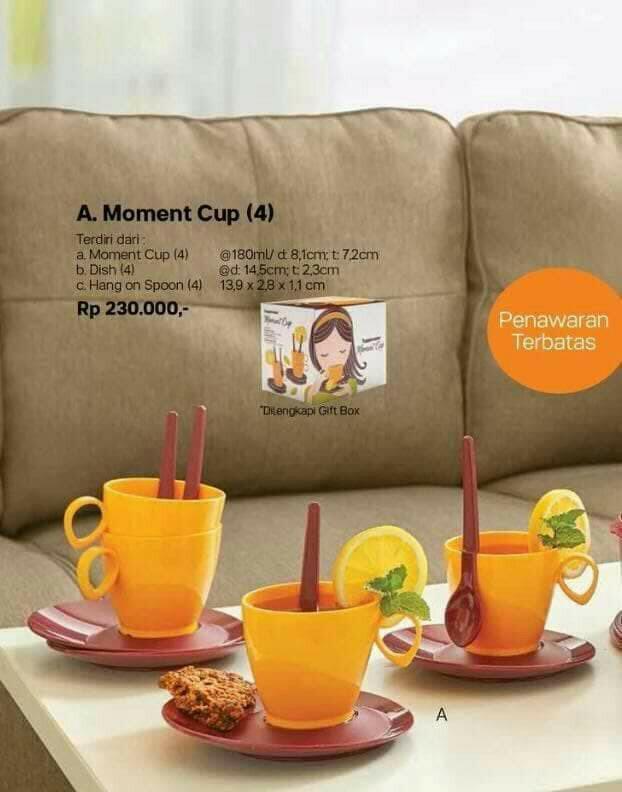 TERBARU Moment Cup Tupperware cangkir set with box