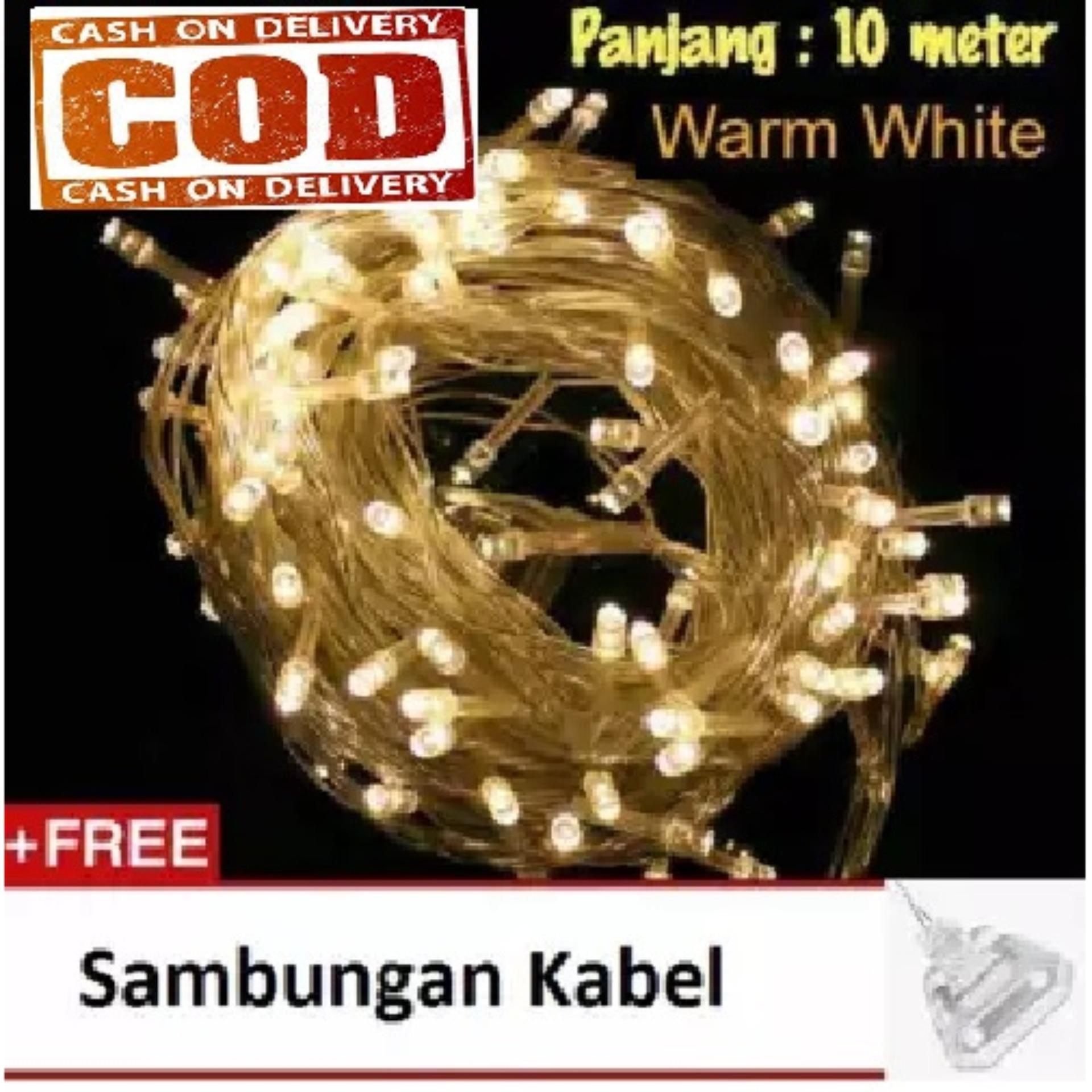 Lampu LED Tumblr Lampu Hias Natal Twingkle Light Led Warm White - 10 Meter