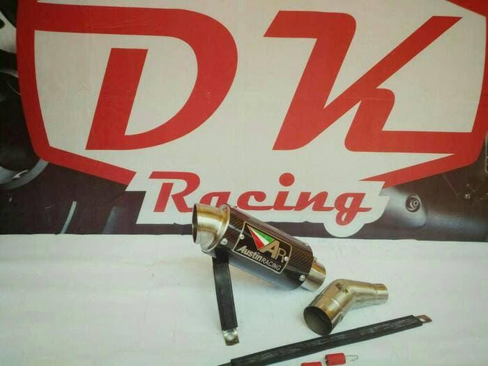 Knalpot Racing Kawasaki Ninja Fi 250 2018 Slip On Austin Racing Carbon Series By Dk Racing Bekasi.