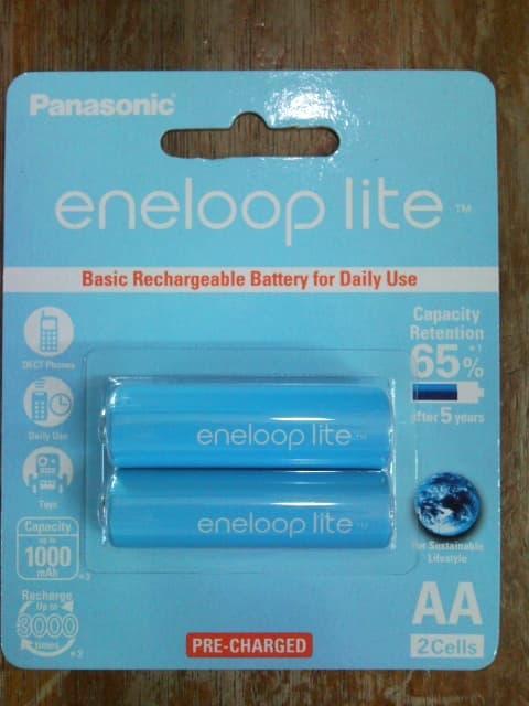 Jual Batre / Batere / Baterai / Battery Sanyo Eneloop AA / A2 Lite 1000mAh 1500x charge Made In Jap