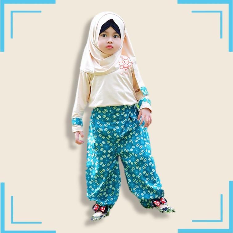 Baju Muslim Anak Perempuan - Hana Jasmine Set (1-2thn)