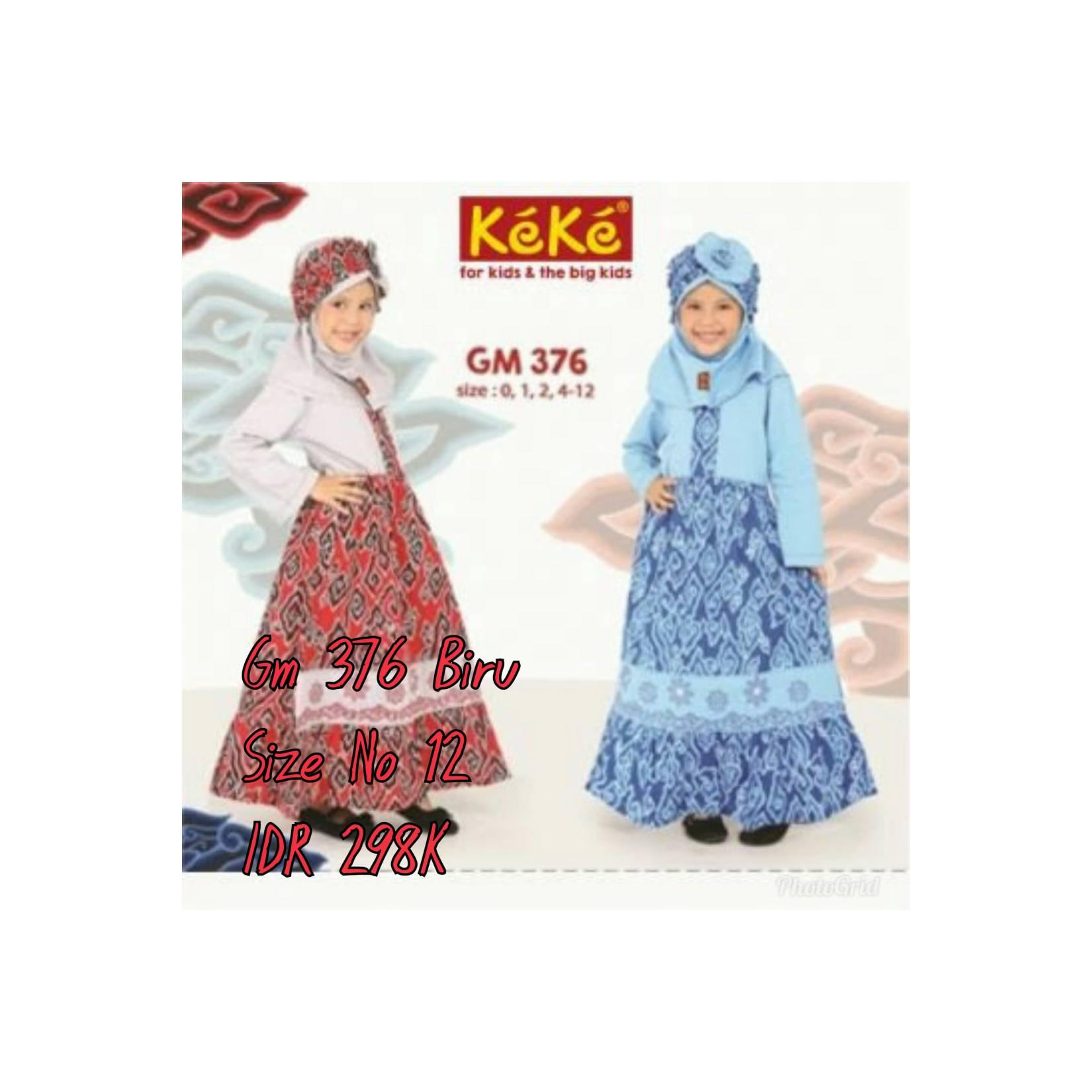 Keke Baju Anak Muslim GM 376 Merah No12 Diskon / Sale / Obral 25%
