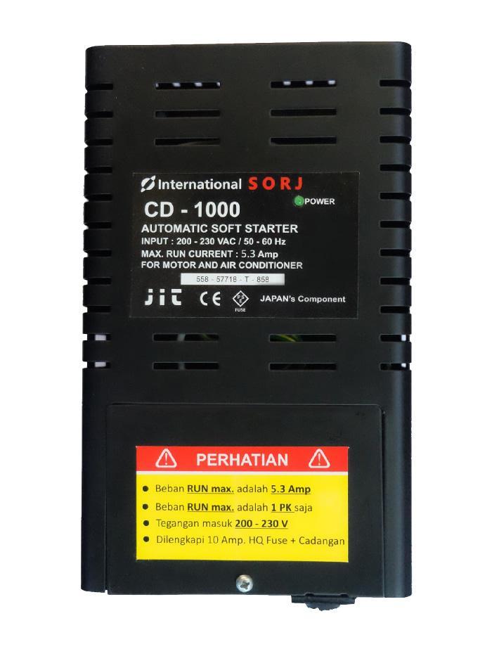 Graha FE - Soft Starter Penghemat Listrik Arus Start 1000 Watt AC Max 1 PK SORJ CD-1000 Terminal