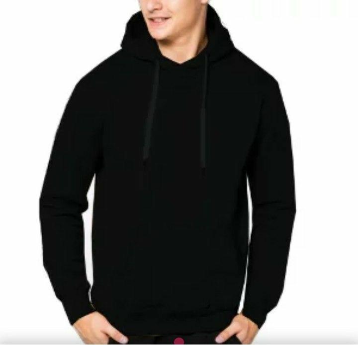 Amazon distro-sweater hoodi polos sweater oblong topi hitam polos kren fashion
