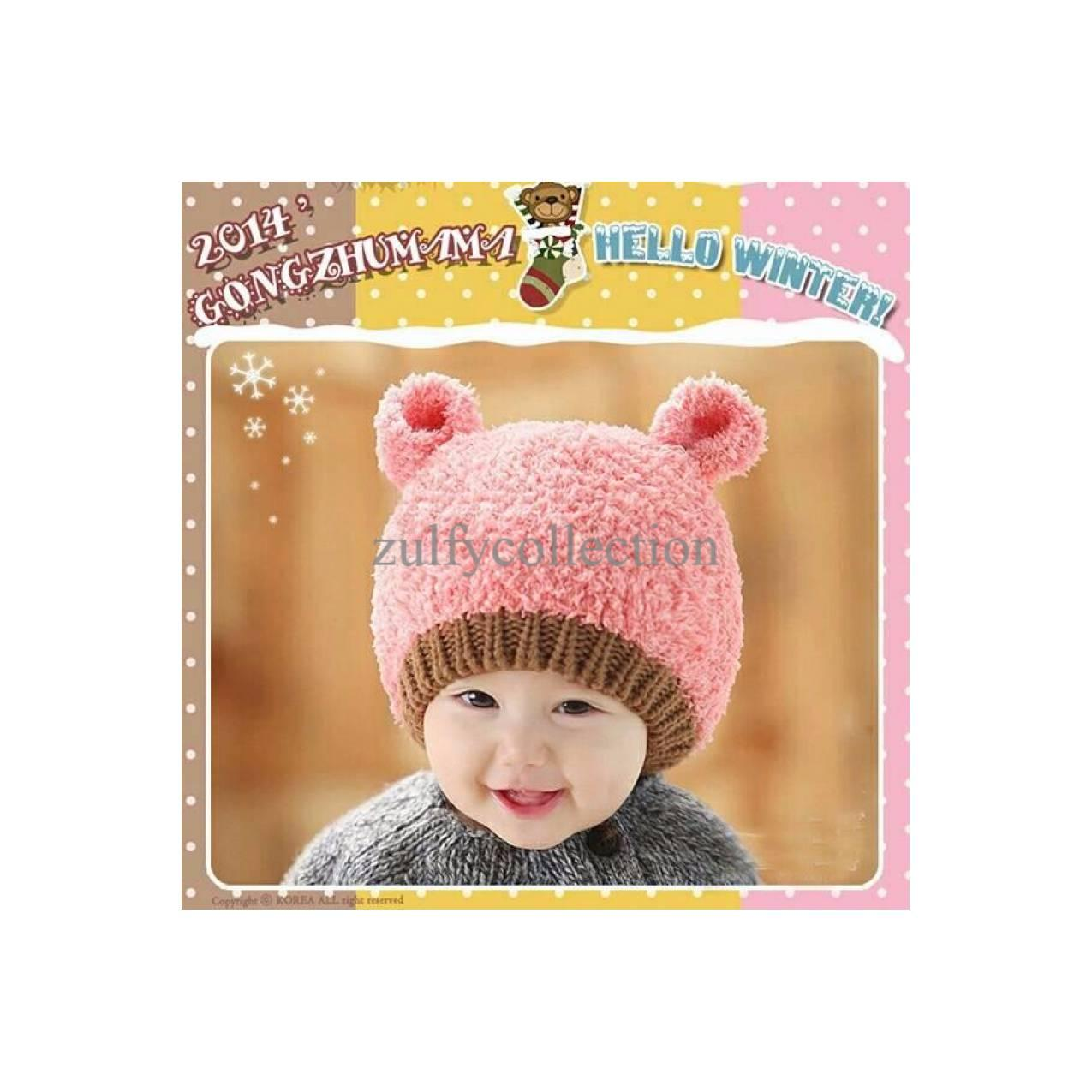EXCLUSIVE HOT PROMO Topi Kupluk Rajut AnakBayi Winter Hat TERJAMIN