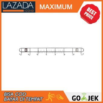 Daftar Harga MAX COD - Gantungan Baju 8 Hook Stainless Steel - 1pcs terbaik murah - Hanya Rp10.892