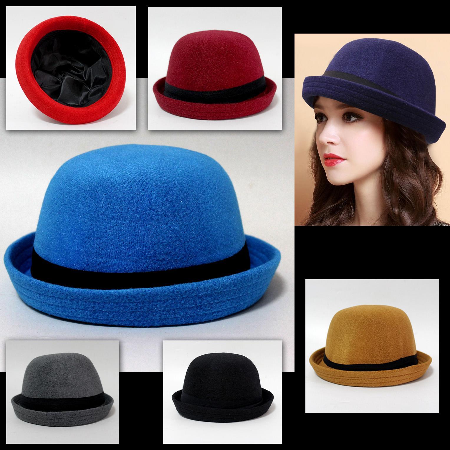 1e6d07e3266 Topi wanita murah - Topi Bowler cewek murah - Topi Fashion wanita terbaru -  Topi wanita