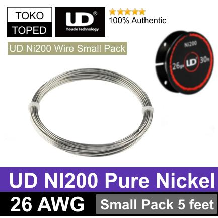 Authentic UD NI200 Wire 26 AWG | Small Pack Edition 5 Feet Pure Nickel