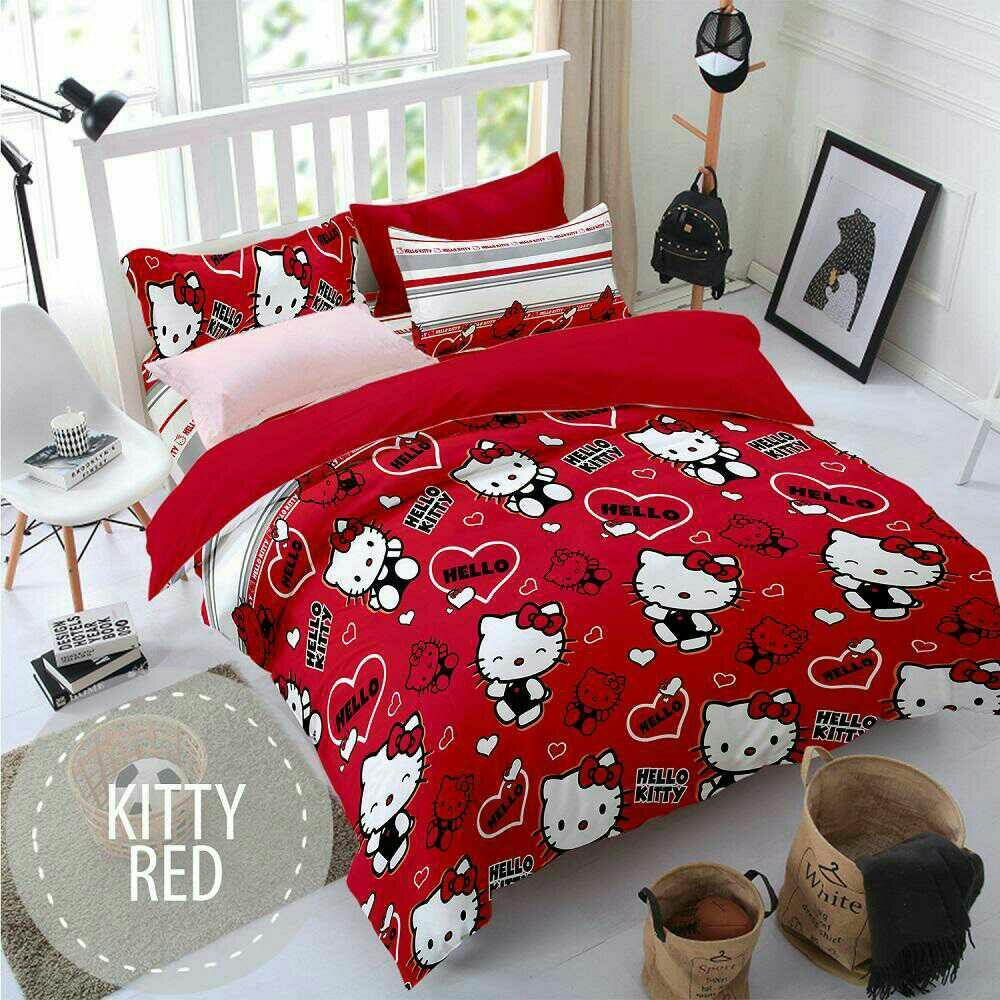 Pesona Sprei Disperse Kitty Red uk 160x200