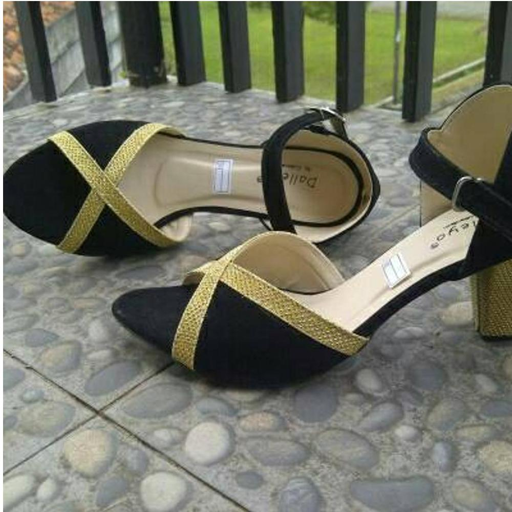 Keke Shoes Sandal Sepatu Heels Wedges Cream On02 Daftar Harga V Ks06 Hitam Lazada Source Bigheel Wavel Wanita Cantik
