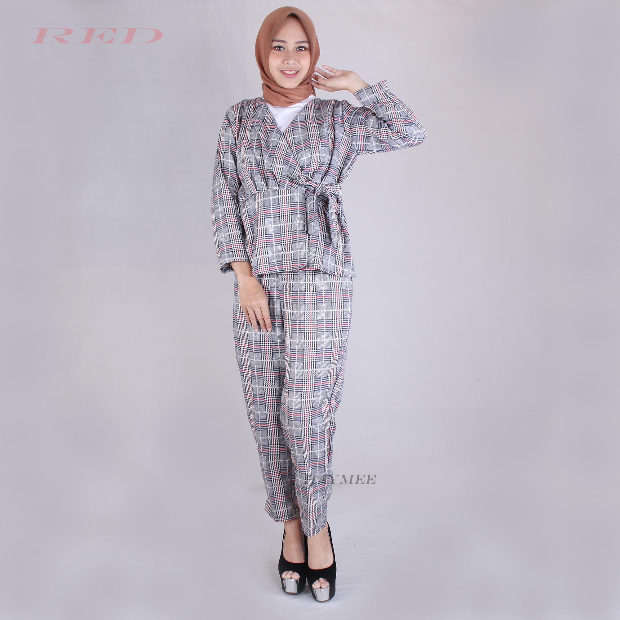HaymeeStore Setelan Wanita Diamond Skin Stelan Baju Casual Wanita Atasan dan Bawahan Premium Zarra Keyn Boutique Clotes