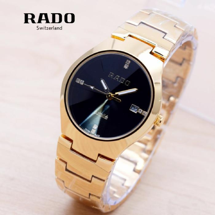 Jam Tangan Wanita / Cewek Rado Jubile SK3500 Rantai Gold Black