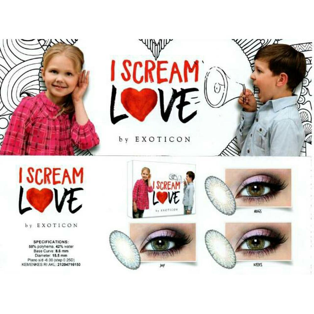 softlens I SCREAM LOVE kisses (normal)