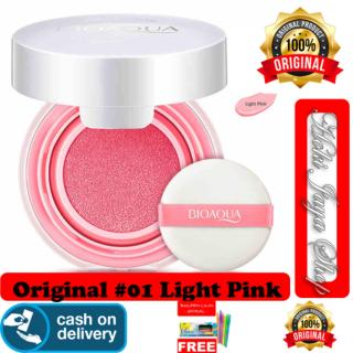 HOKI COD - 01 LIGHT PINK - BioAqua Blush On Air Cushion - Smooth Muscle Flawless - Perona Pipi + Gratis Pulpen Lilin Unik SErba Guna Hitam Pekat - 1 Pcs thumbnail