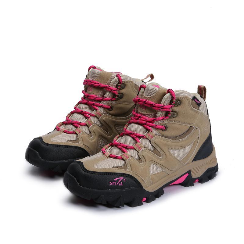 SNTA Sepatu Gunung Wanita   Sepatu Hiking Outdoor Wanita SNTA 609 Beige Pink ae15b06b0d