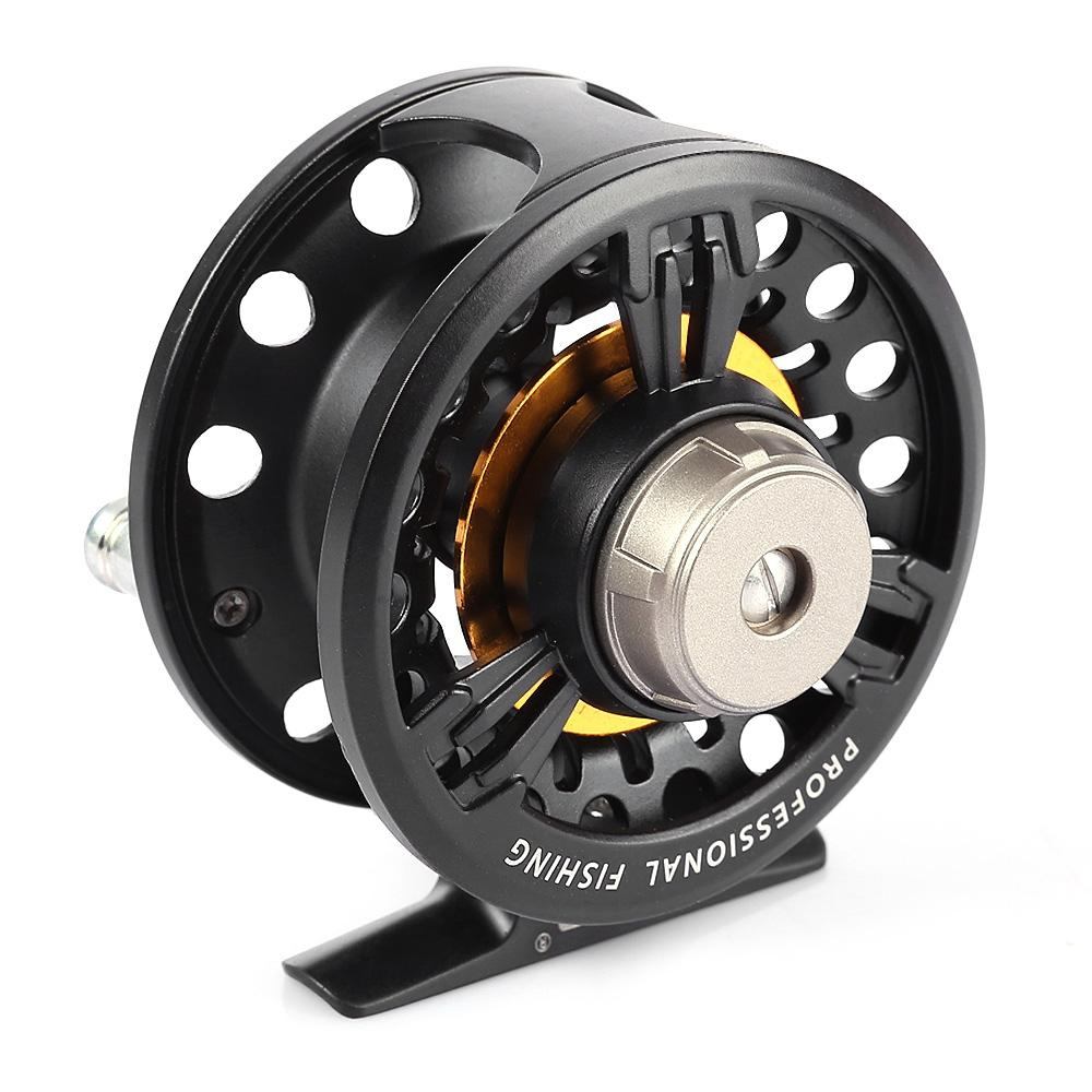 LEO FB75 Left Right Interchangeable Full Metal Fly Fish Reel Former Rafting Ice Fishing Wheel-BLACK