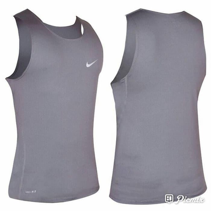 HARGA PROMO!!! Singlet Fitness / Gym NIKE PRO COMBAT Abu - I3Lv8C