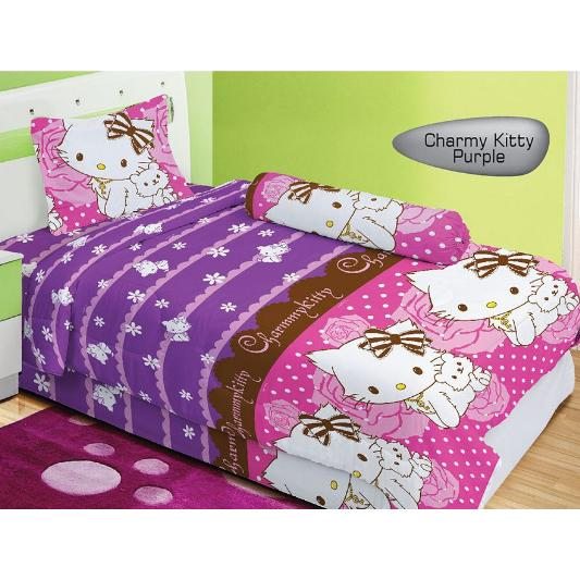 Isthana Collection Sprei Lady Rose 120x200 Charmmy Kitty Purple (Untuk Kasur No. 3)