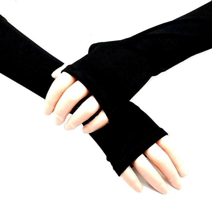 Fio Online Handsock Jempol Syar'i - Handsock Muslimah - Manset Tangan - Warna Hitam
