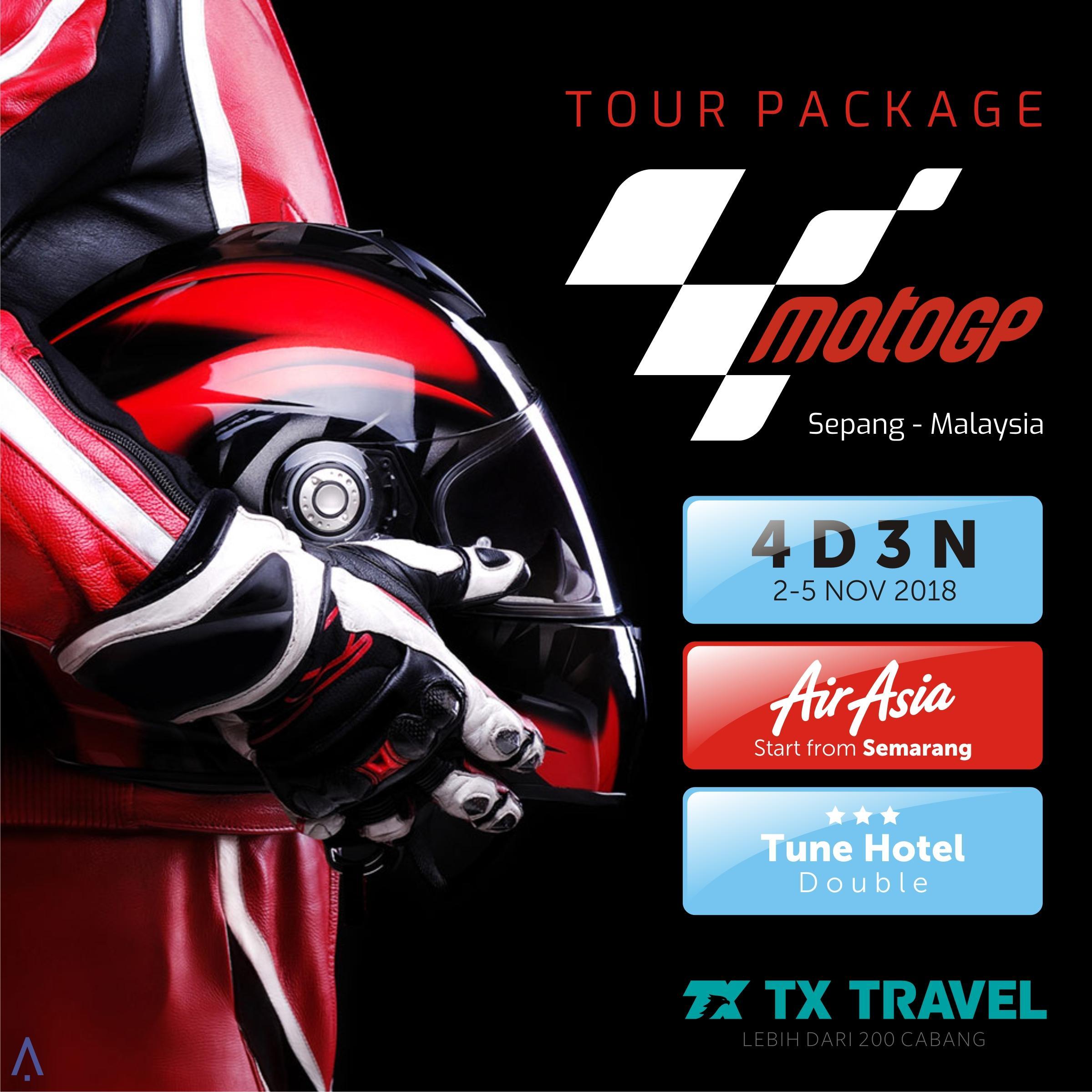 Paket Tur Murah MotoGP Sepang 4D3N (Semarang)