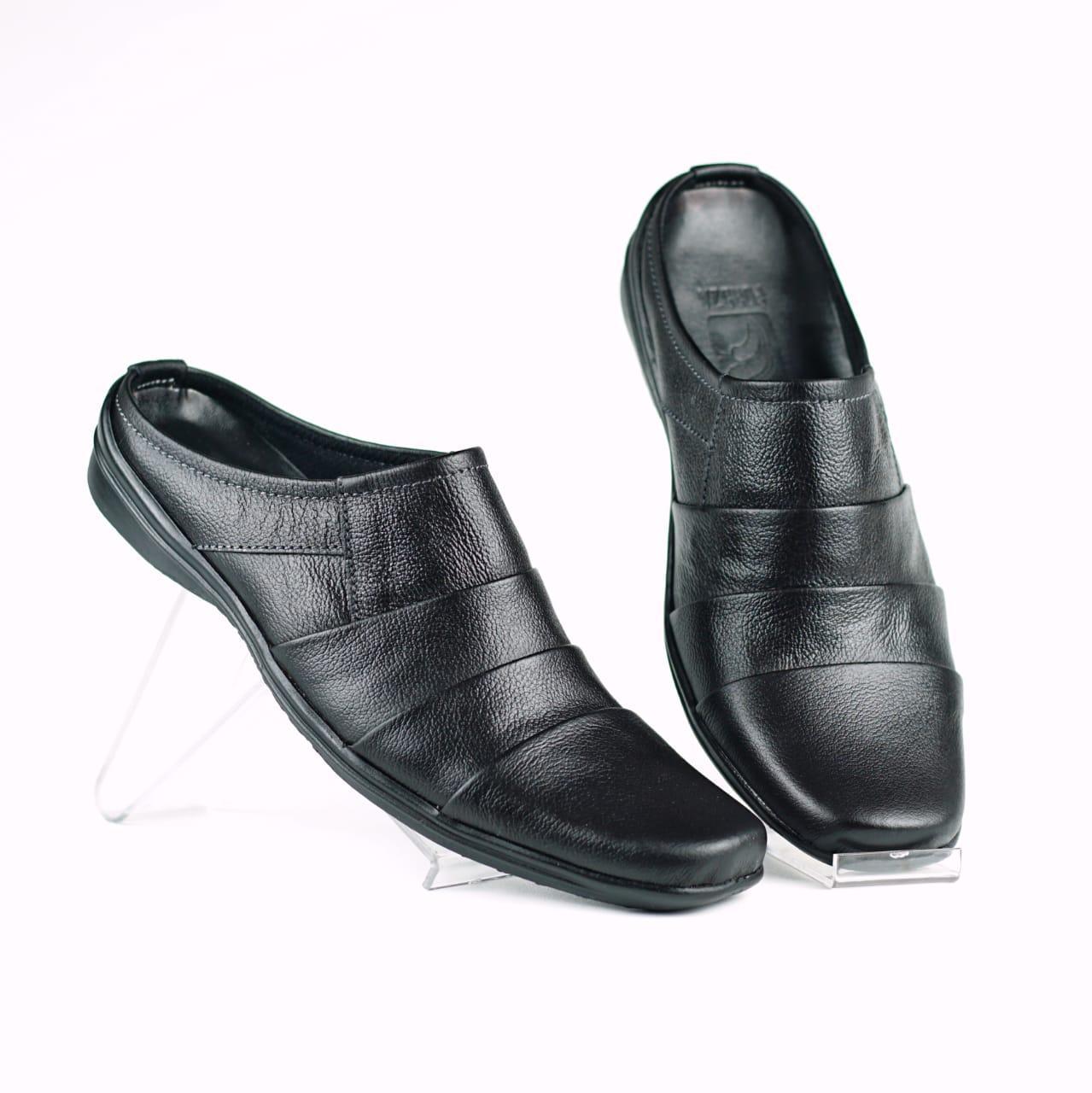 Sepatu Slop Pria Bustong Slip On Kulit Asli Ar04 By Fordza.