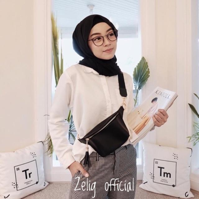 Tas Selempang Waist Bag Exclusive New Favorite Women Fashion Simple Casual import Tali adjustable / Funny
