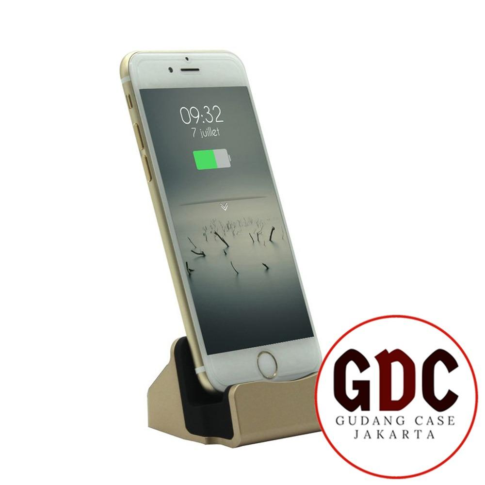 GDC Kabel & Docking Station Charger Cradle Charging Sync Dock For iPhone 5/6, iPad Mini, iPod 7, iPod Touch 5 - Gold