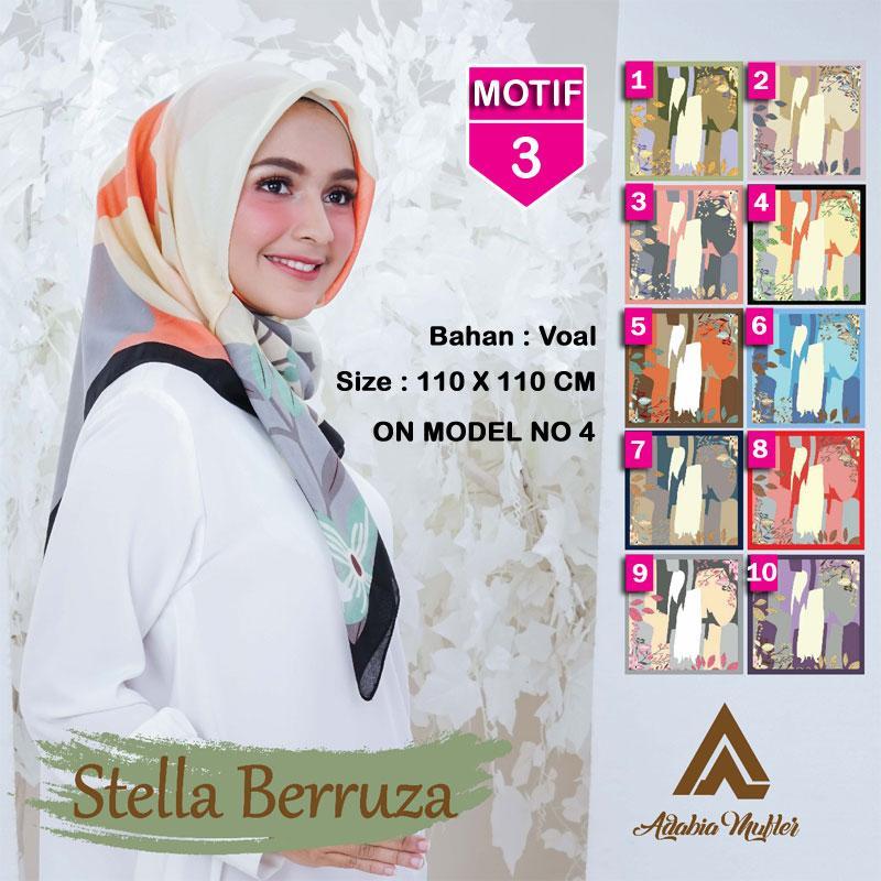 Hijab Segi Empat STELLA BERRUZA 3 By ADABIA MUFLER - Jilbab kerudung MOTIF