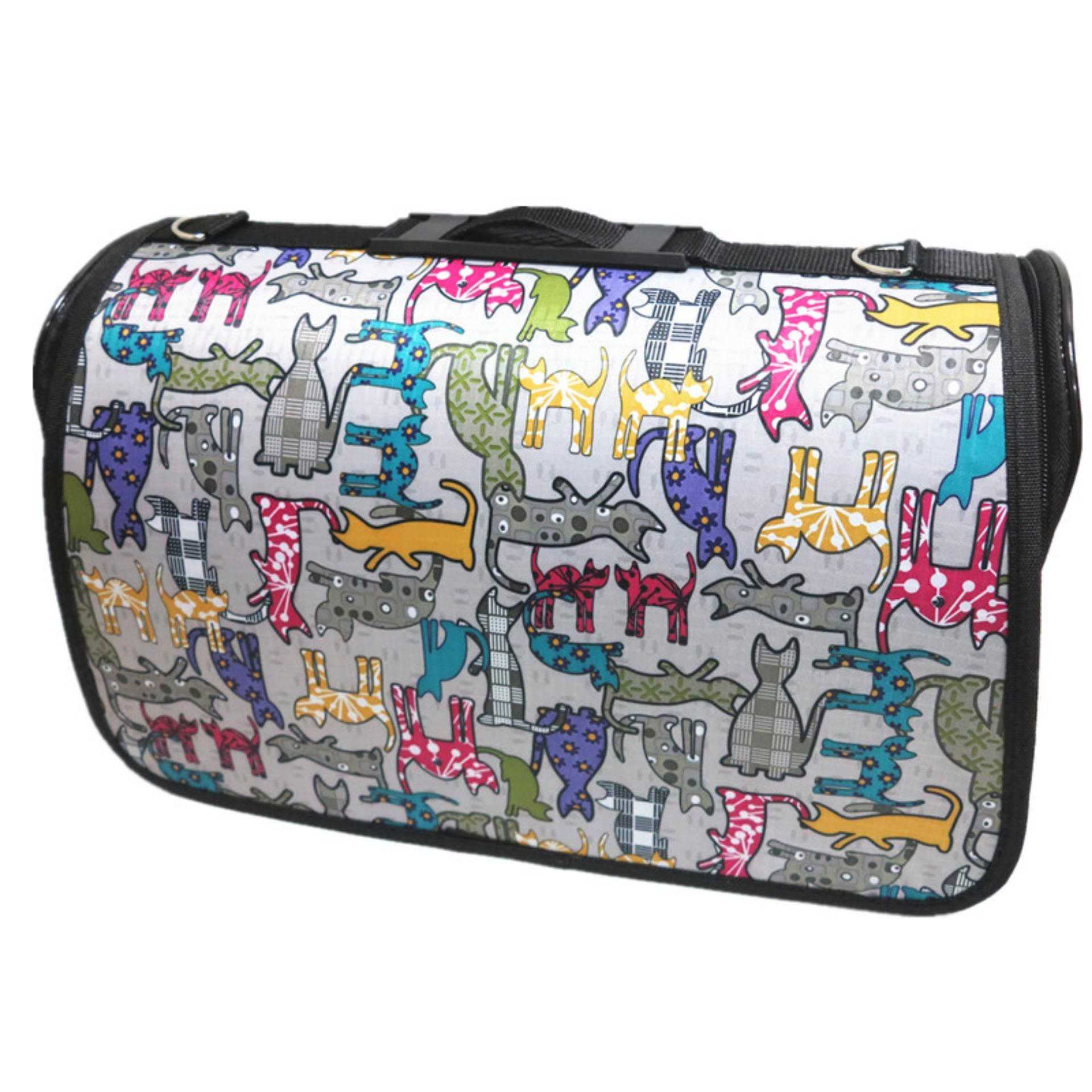 ADDA HOME - Recommended!!! Waterproof Pet Carrier Bag / Tas Peliharaan Anjing Kucing 43x26x24cm - Silver