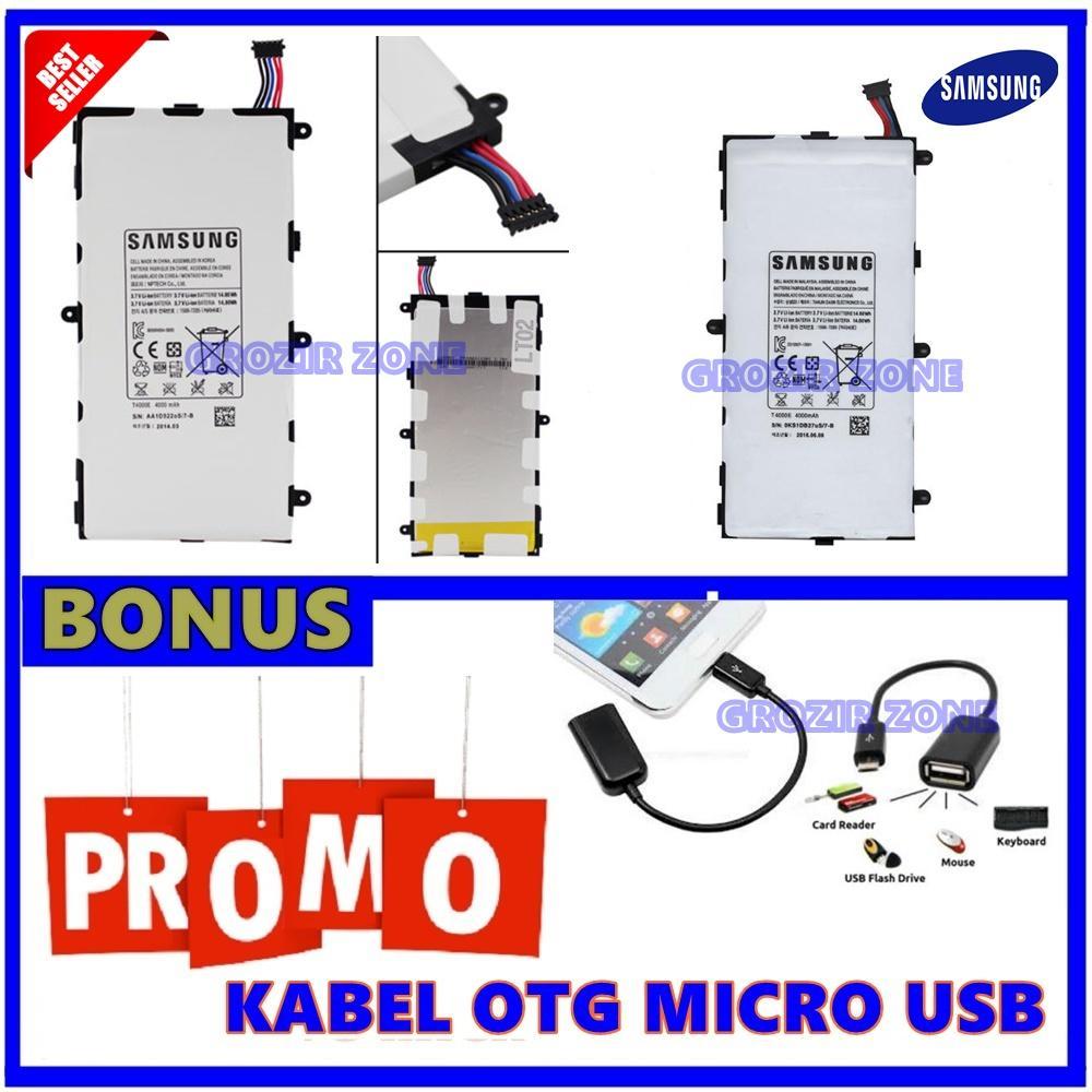 Samsung Baterai / Battery Galaxy Tab P3200 Original + Gratis Kabel Otg Micro Usb ( Grozir Zone )