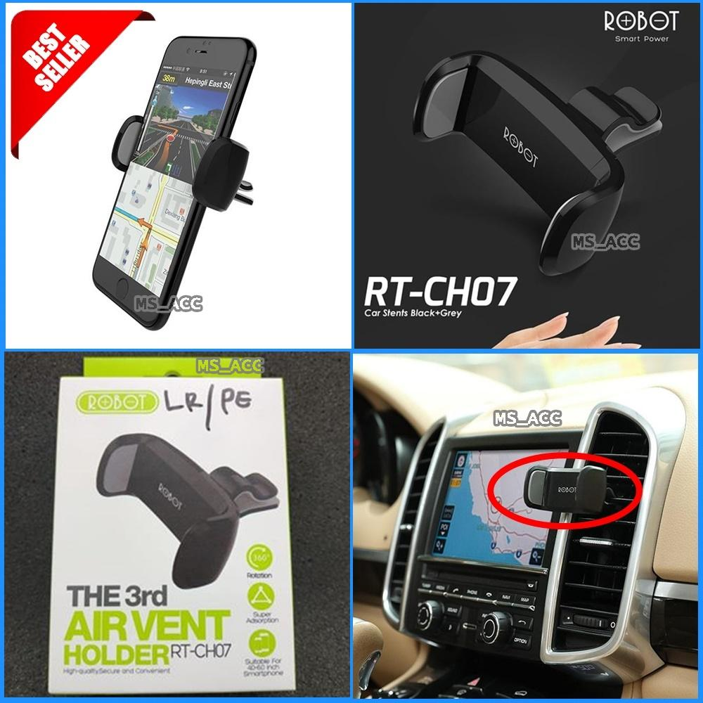 ROBOT RTCH07 / RT-CH07 Holder Stent Ac Mobil / Dudukan Di Ac Mobil For All Smartphone Original 100% [ ms_acc ]