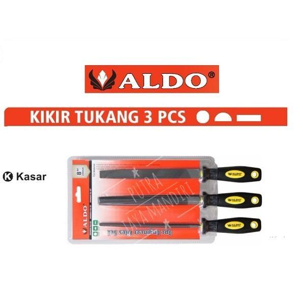 Aldo Engineer File Set / Alat Kikir Gergaji Tukang 3pcs