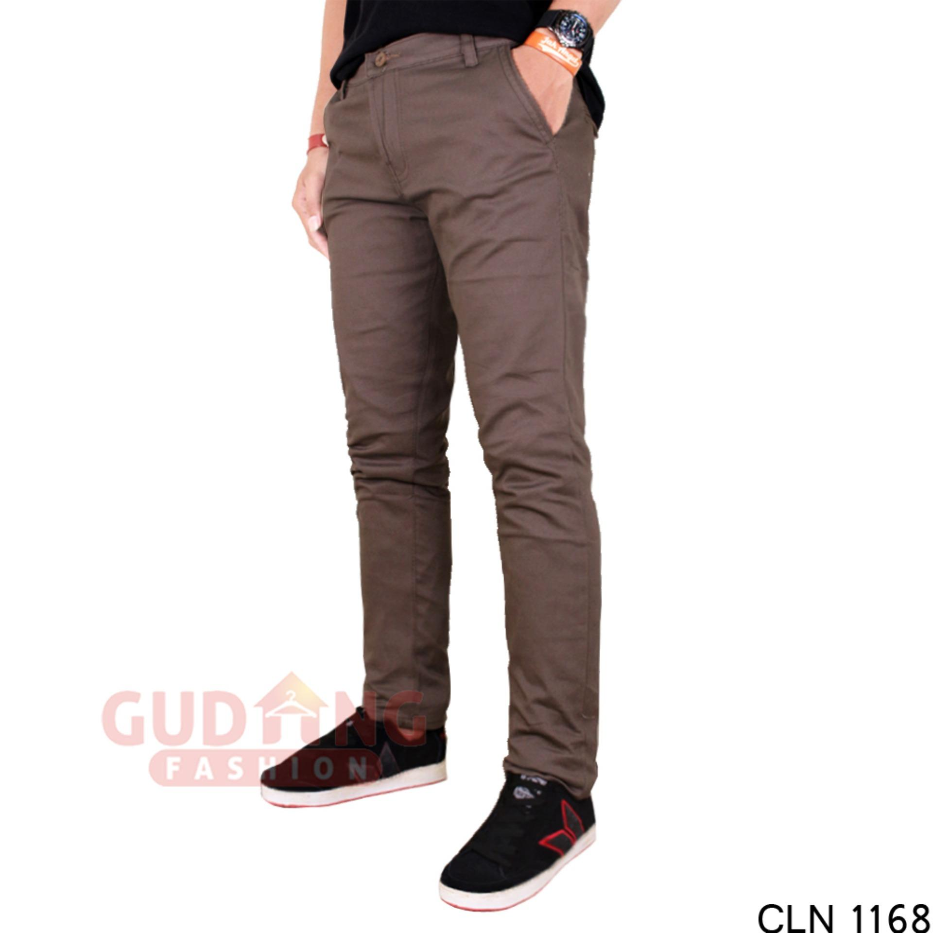 Gudang Fashion - Celana Panjang Chino Pria / Men New Chino Pants - Coklat
