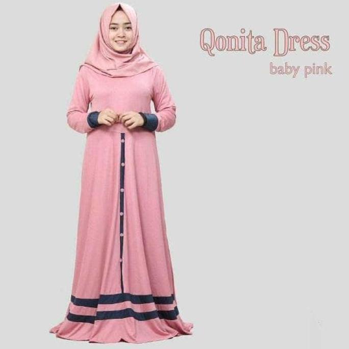 Terpopular Baju Atasan Muslim Murah /Gamis Murah Qonita Dres Mocca | Baju Lebaran Muslim Wanita Anak