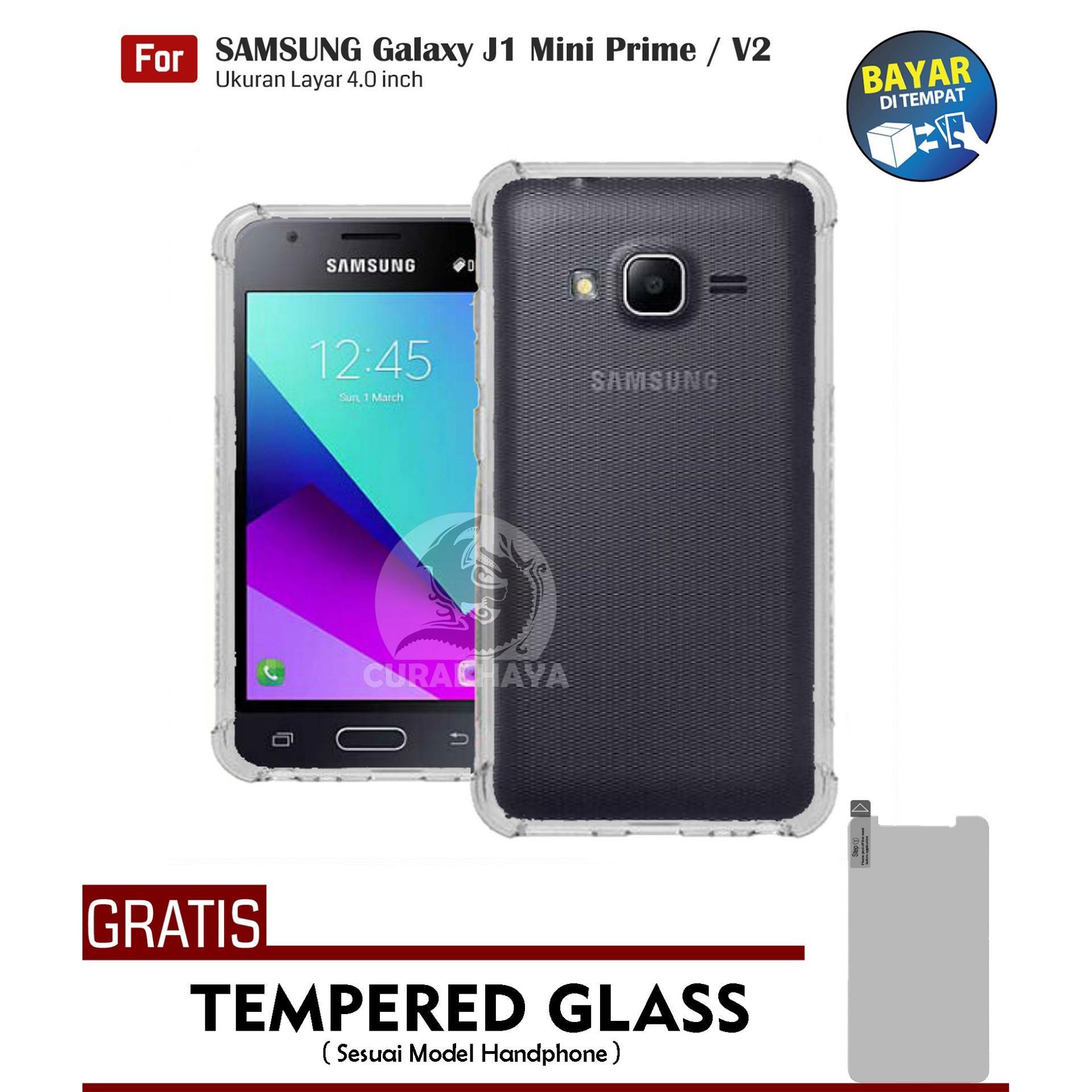 AirShock Samsung Galaxy J1 Mini Prime / V2 / J106 / Duos | Anti Crack Premium Softcase Cushion ShockProof + Gratis Free Tempered Glass Screen Protector
