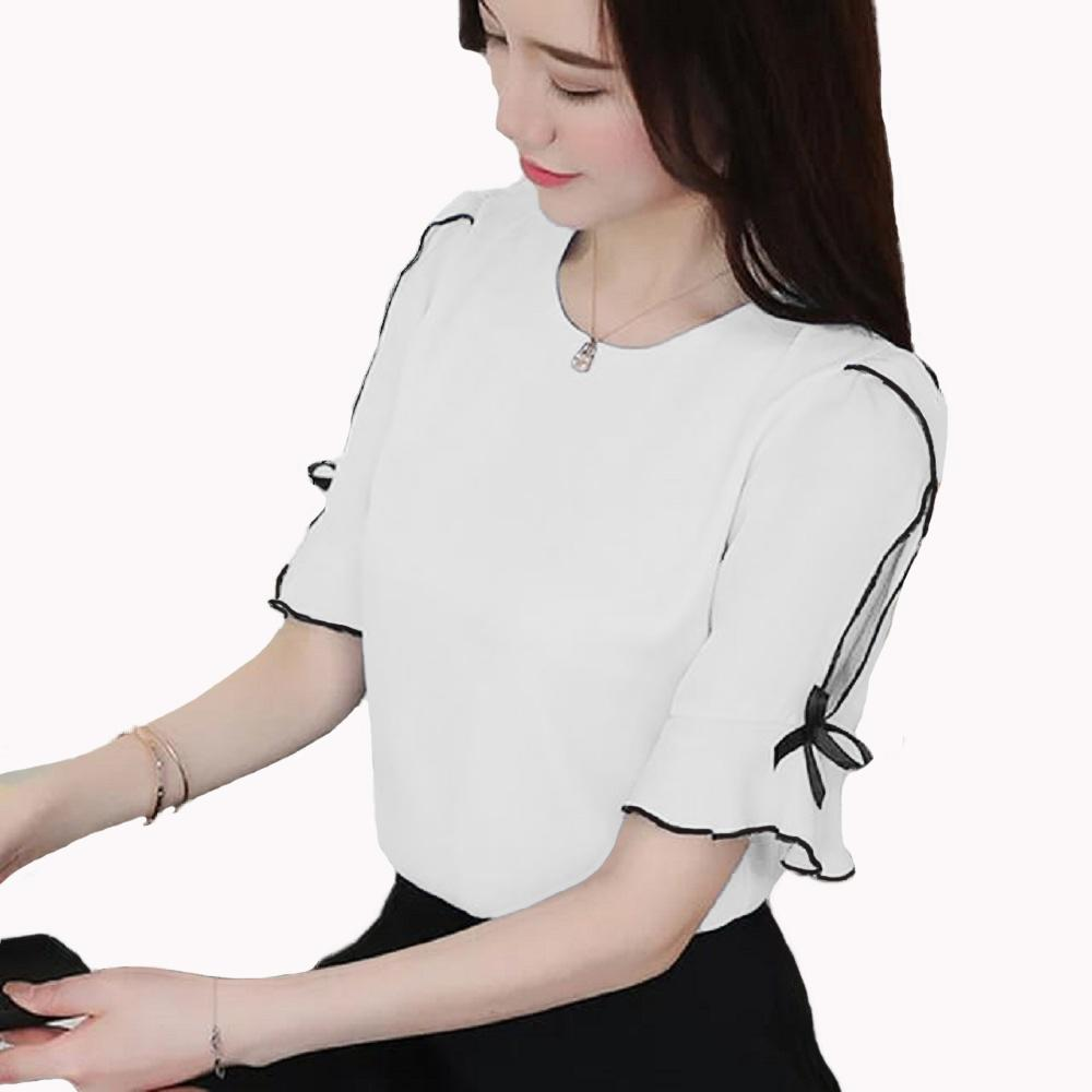 Blouse Tangan 3 4 Wanita Gaya Korea Model Terbaru - Melisa b1f496f852