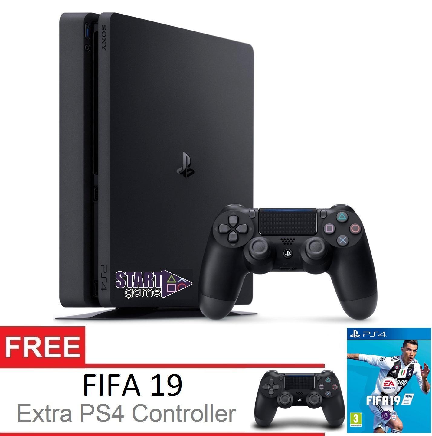 SONY Playstation 4 Slim 500GB Garansi SONY CUH 2106A Extra Controller FIFA 19