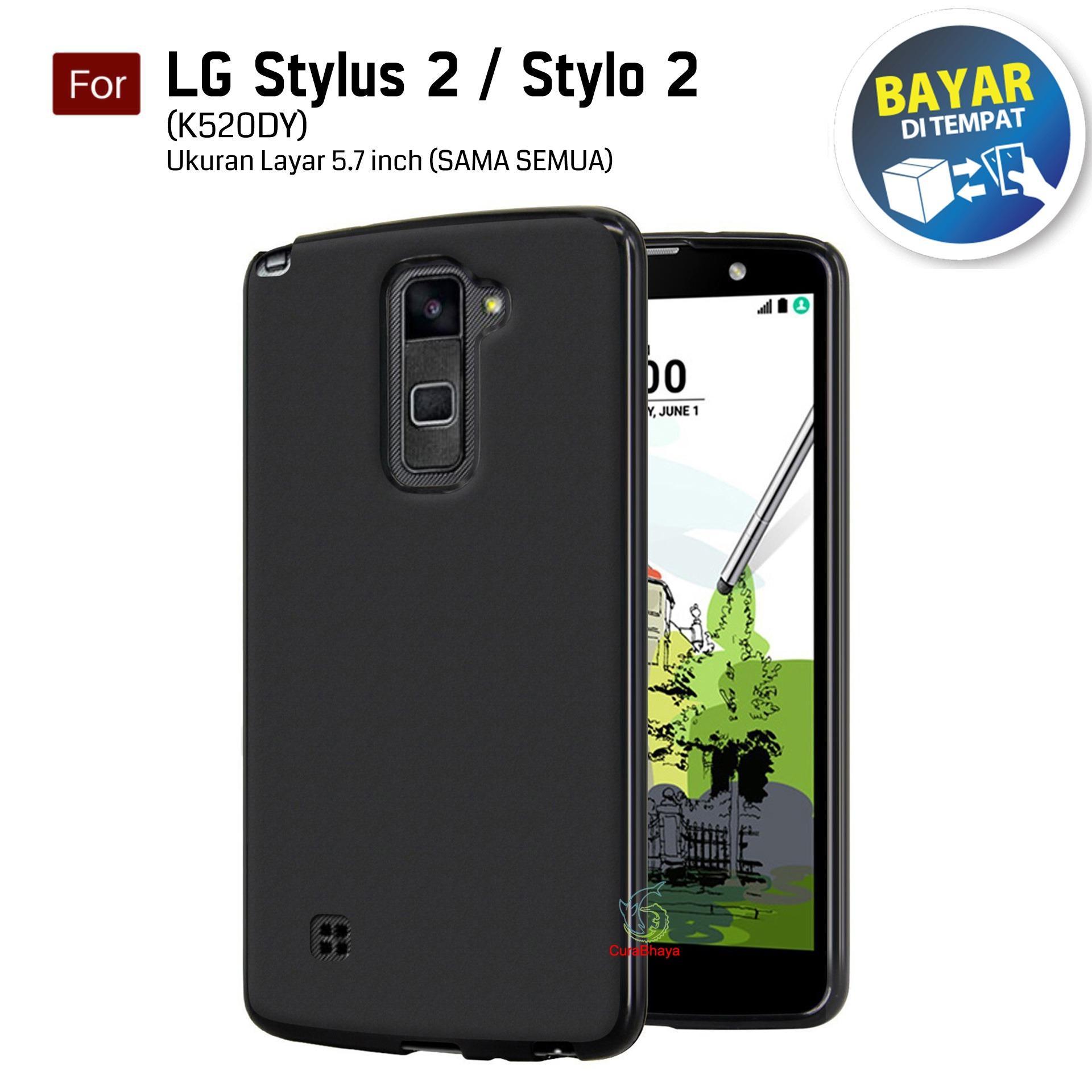 MidNight LG Stylus 2  / Stylo 2 / K520DY / Dual / LTE | Slim Case Black Matte Softcase Premium Baby
