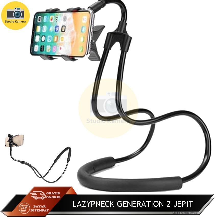 Studio Kamera - Lazypod Generation 2 New Lazy Hanging Neck Phone Holder Leher Hp Lazypod Lazyneck Pod Model Jepit - Warna Random By Studio Kamera.