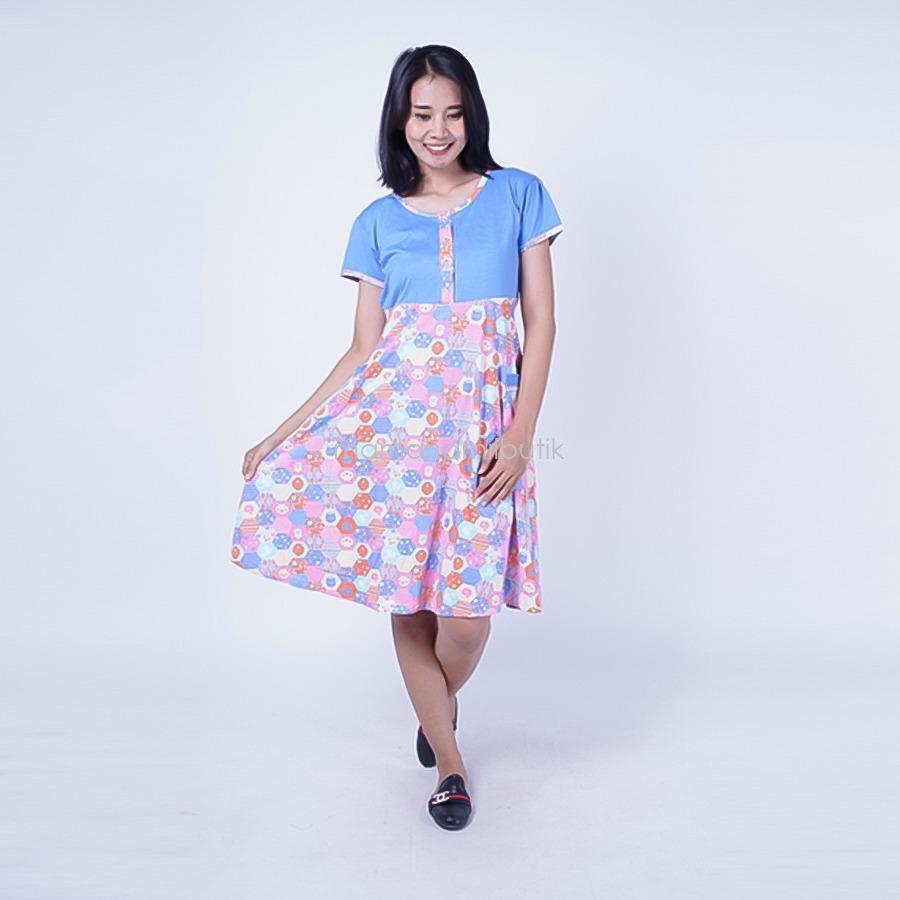 Ning Ayu Daster Hamil Kaos Bee - DS 449 / Baju Hamil untuk kerja Lengan Panjang / Baju Hamil Seksi / Baju Hamil Gamis / Baju Menyusui Modis / Baju menyusui Murah / Baju Menyusui Terbaru / Baju Menyusui Keren
